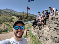 hiking group selfie